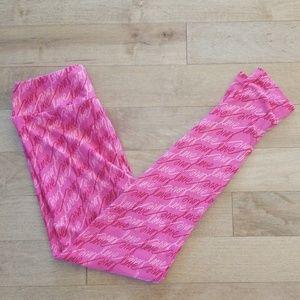 LuLaRoe Pink Love Script Leggings - One Size